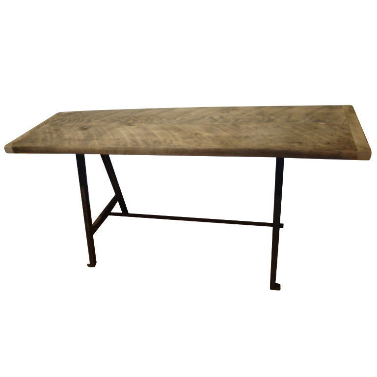 Raw Wood Console Table At 1stdibs