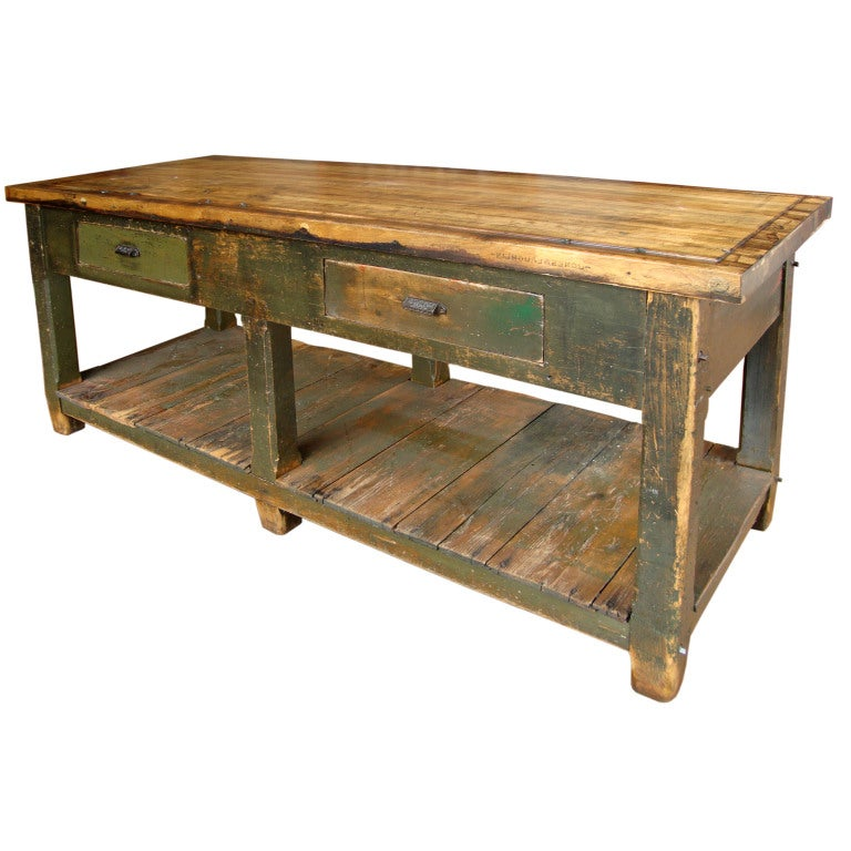 19th Century Working Island/Workbench At 1stdibs