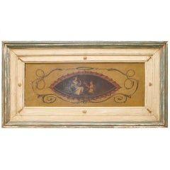 Boiserie with elegant scene