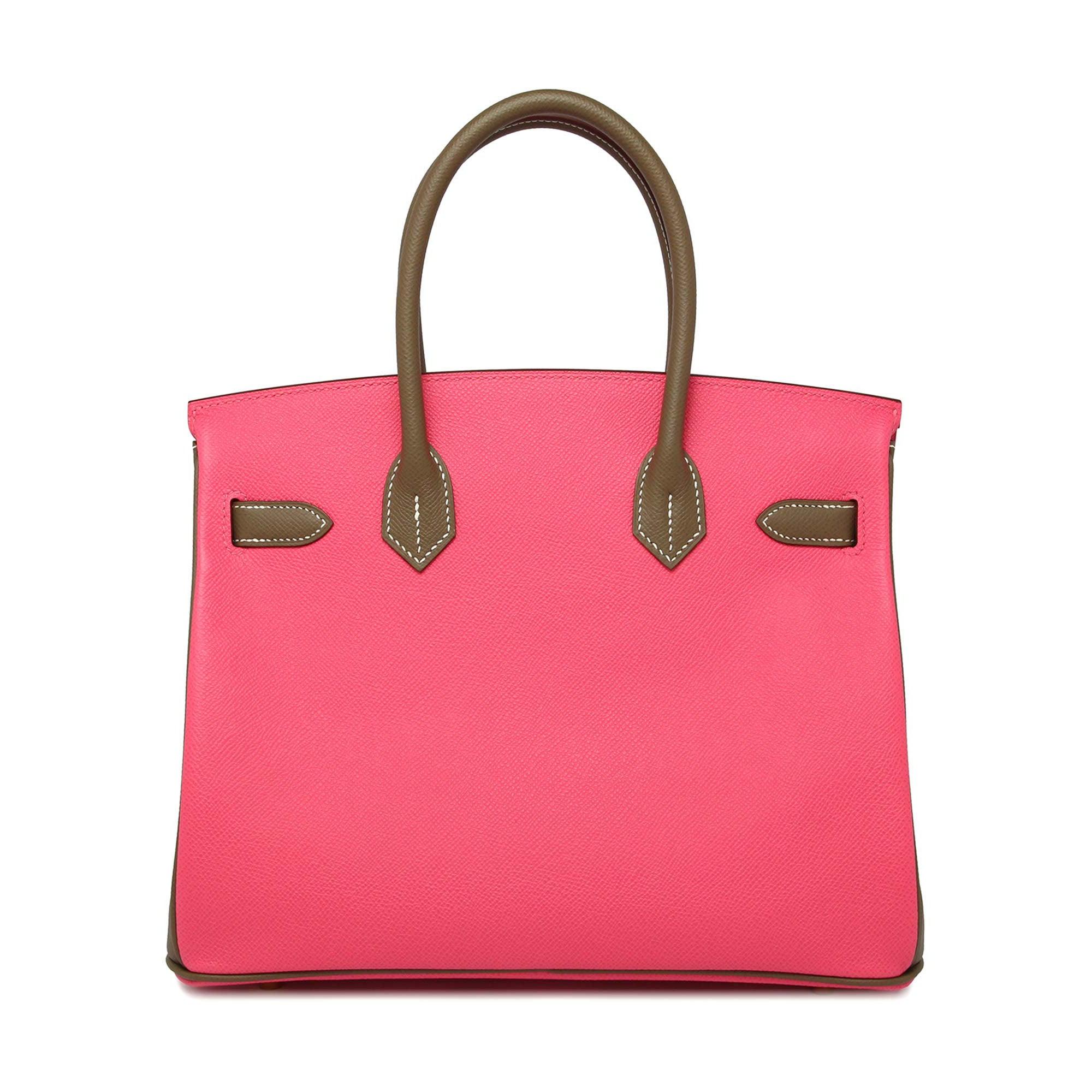 bad2d170fe Hermes Rose Azalea Etoupe 30cm epsom permabrass hardware Horseshoe Birkin  Bag For Sale at 1stdibs