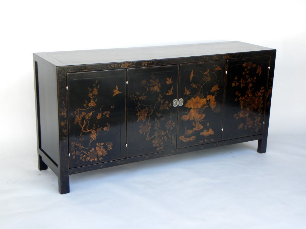 black lacquered sideboard hy 506 at 1stdibs