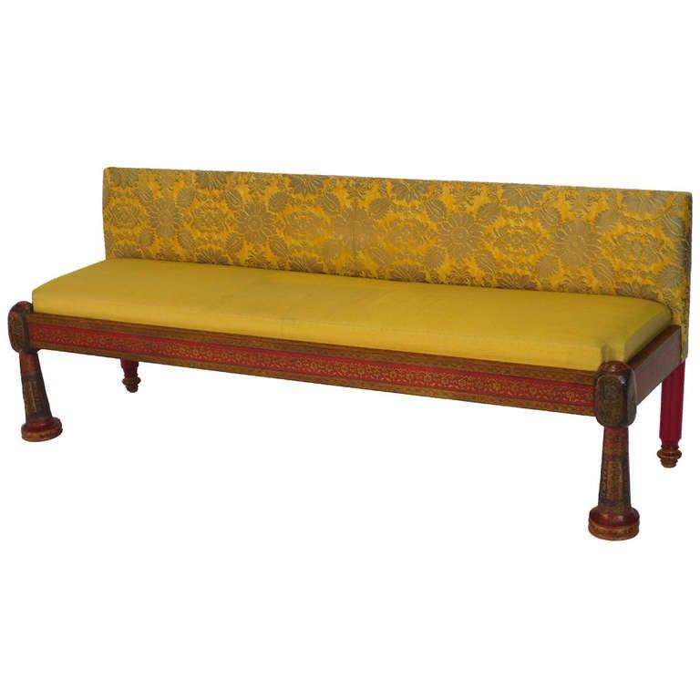 indian custom bench ig 118 at 1stdibs