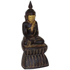 Lacquered Seated Buddha Sculpture, TA 1010