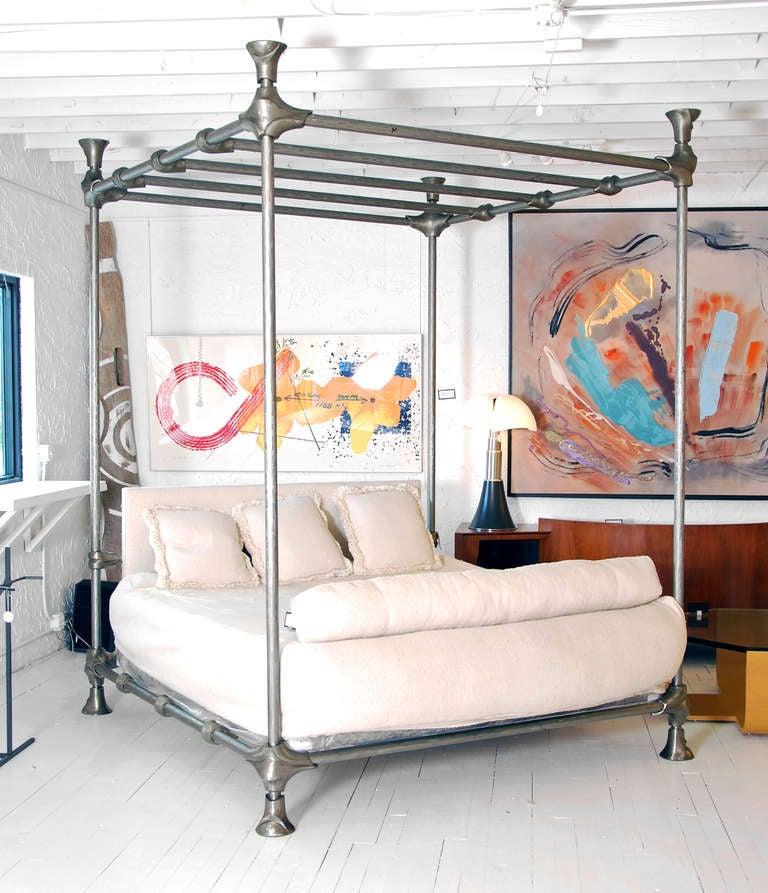 DESIGNER \u0026 MANUFACTURER: Mimi London MARKINGS: none COUNTRY \u0026ORIGIN OF MATERIALS: USA;. Modern Mimi London Canopy Bed ...