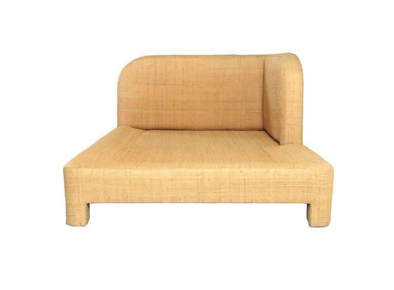 Richard Himmel Raffia Day Bed and Lounge Chair at 1stdibs
