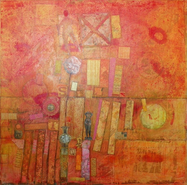 Large Patrick Archer Abstract Collage 3