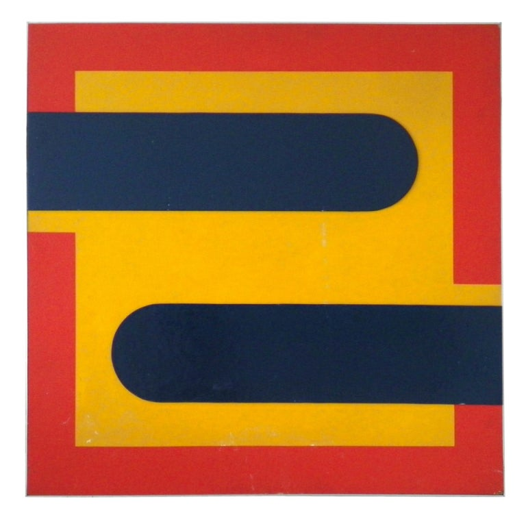 Jean dubois minimalist painting pop art at 1stdibs for Minimalist wall painting