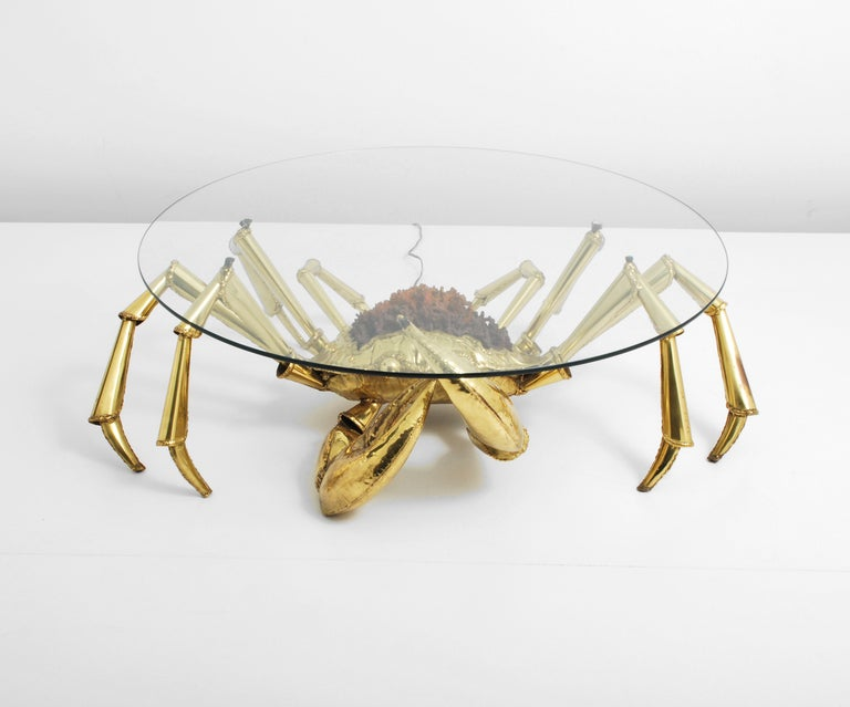 Glass Rare Jacques Duval-Brasseur Cocktail Table For Sale