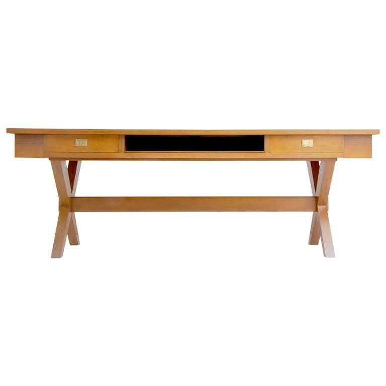 Massive Desk or Console Table, Manner of Gio Ponti