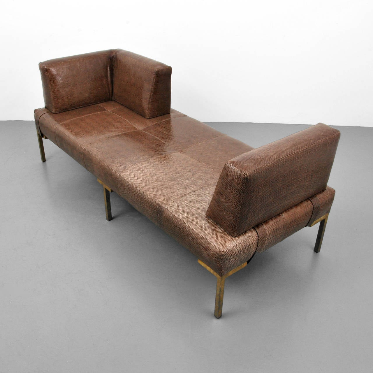 Luigi Gentile Leather Daybeds or Chaise Lounges, Two Available 3