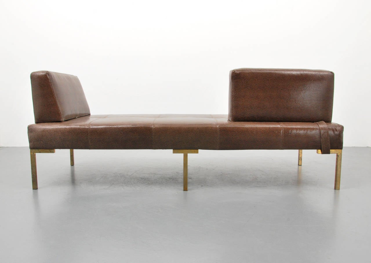 Luigi Gentile Leather Daybeds or Chaise Lounges, Two Available 2