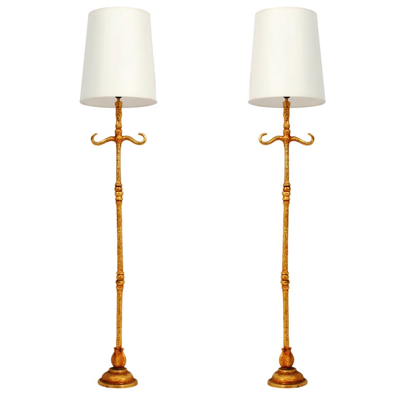 Pair of De Wael for Fondica French Floor Lamps