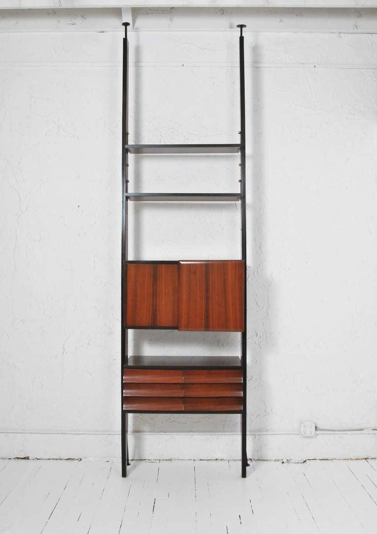 Italian Rosewood Mid-Century Modern Bookcase, Attributed To Vittorio Dassi 2