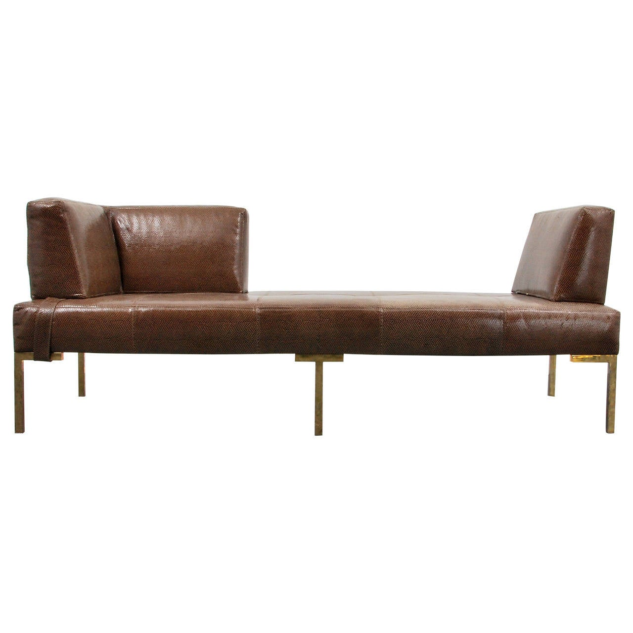 Luigi gentile leather daybeds or chaise lounges two for Chaise longue or chaise lounge