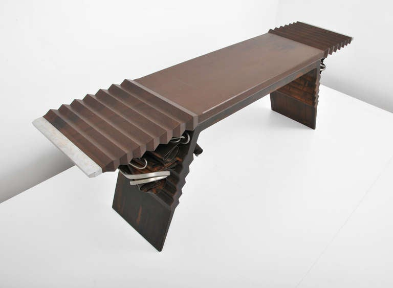 Albert Paley Sculptural Console Table At 1stdibs