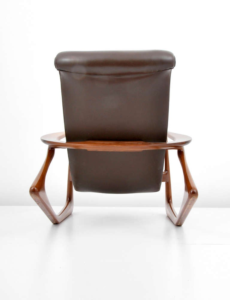 "Vladimir Kagan ""Contour"" Lounge Chair and Ottoman Circa 1960 Fre"