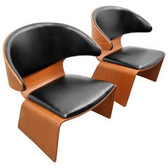 "Pair of Hans Olsen ""Bikini"" Lounge Chairs"