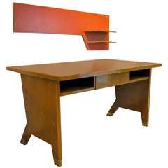 Seltener Schreibtisch mit Wandregal von Gio Ponti