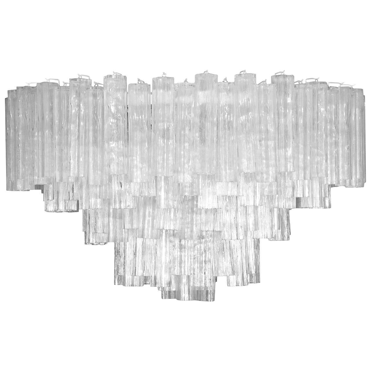 Monumental Camer Glass Chandelier