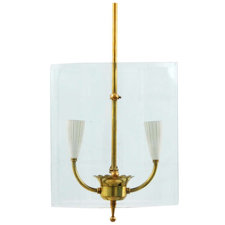 Pendant Light Attributed To Pietro Chiesa For Sale At 1stdibs