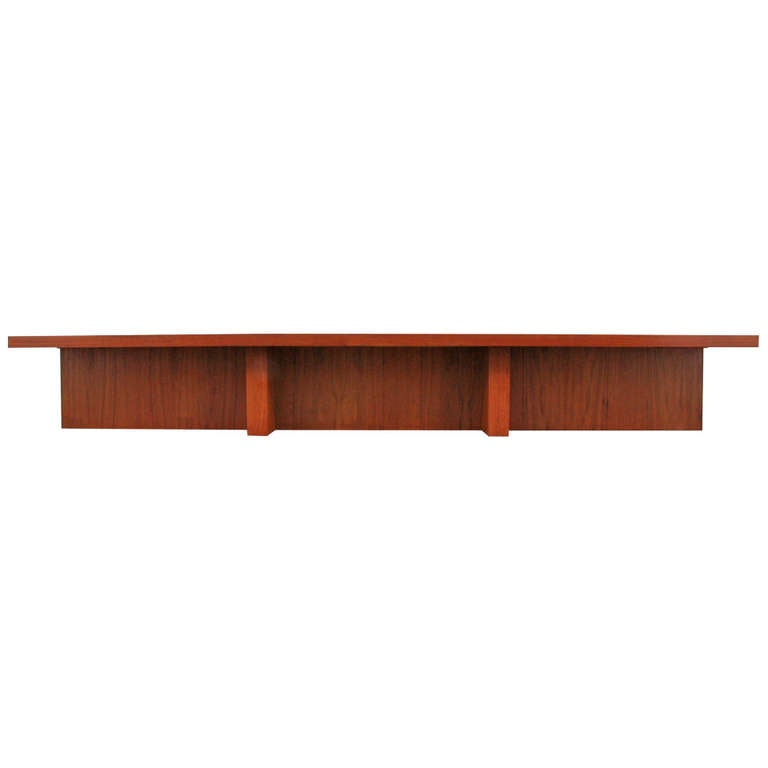 Massive Cocktail Coffee Table Manner Of Frank Lloyd Wright Danish Modern At 1stdibs