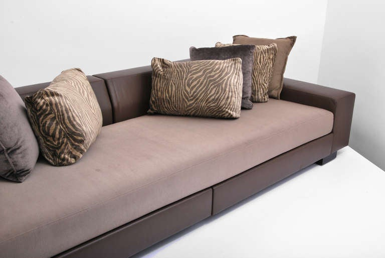 Leather Sofa by Christian Liaigre for Holly Hunt at