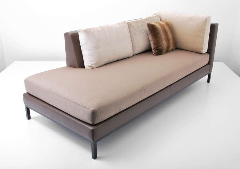Christian liaigre for holly hunt sofa daybed pair for Chaise daybed sofa