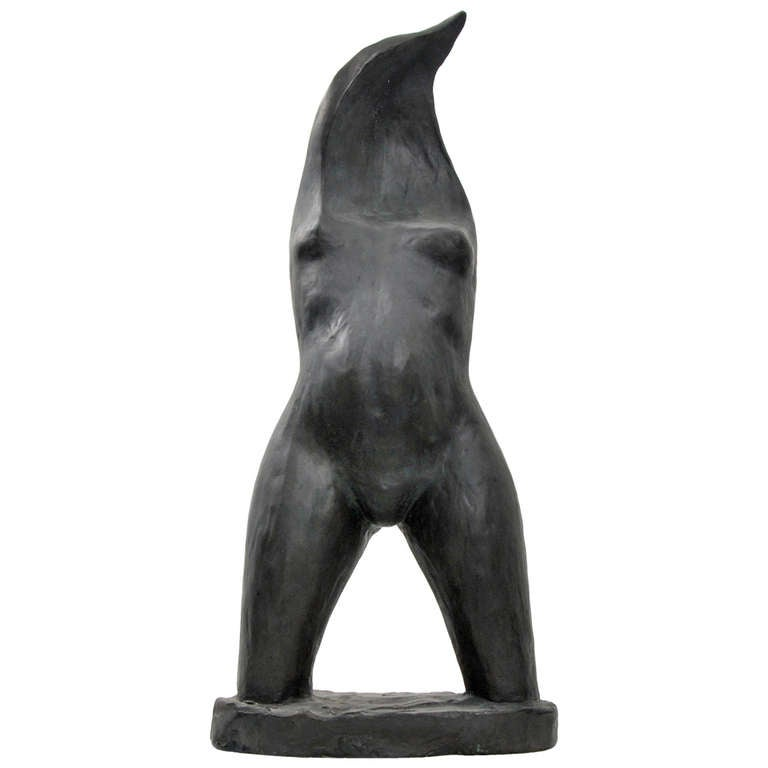 "Larry Mohr ""Flame Torso"" Figural Sculpture, 1974"
