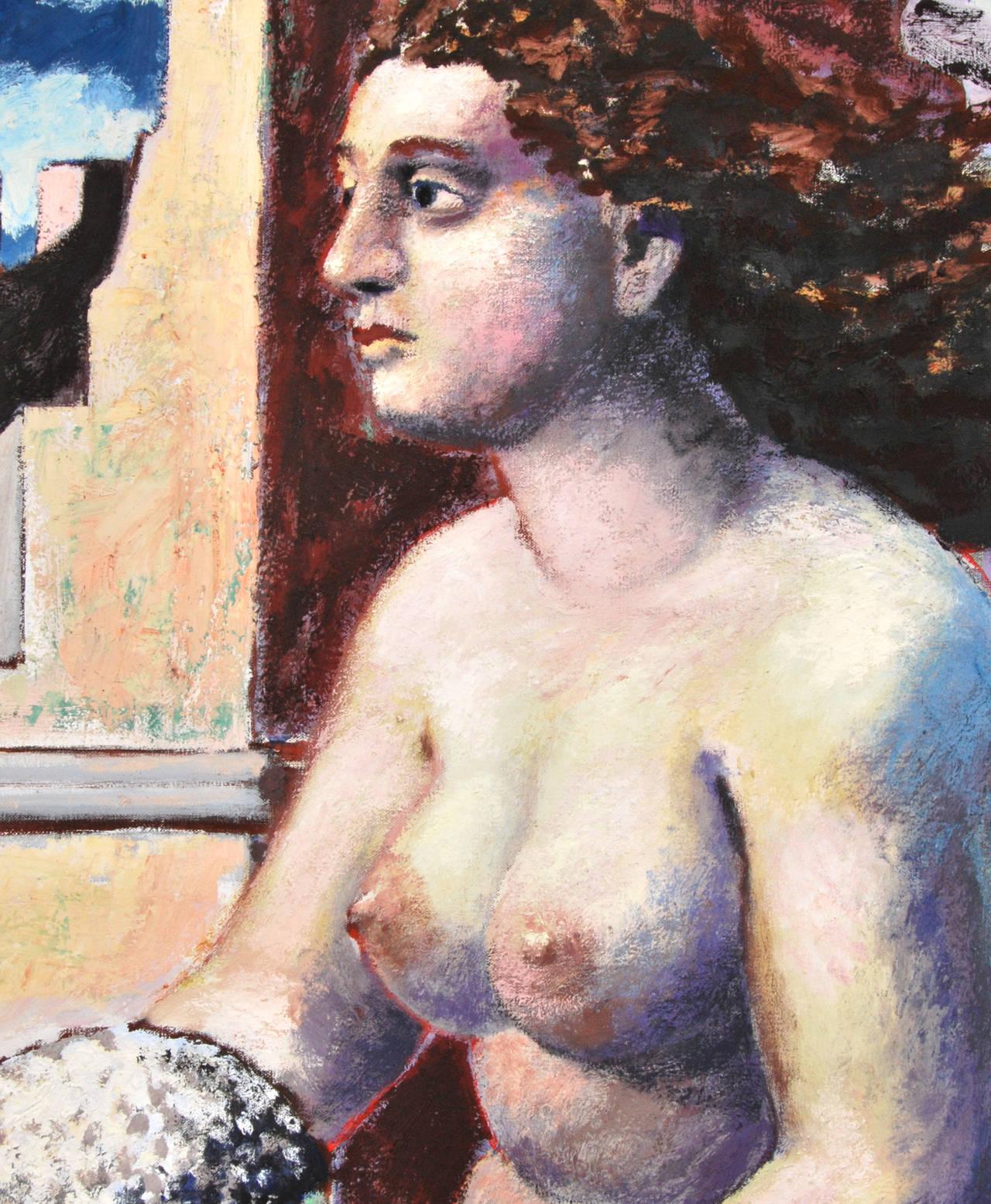 German Large Hermann Albert Painting For Sale