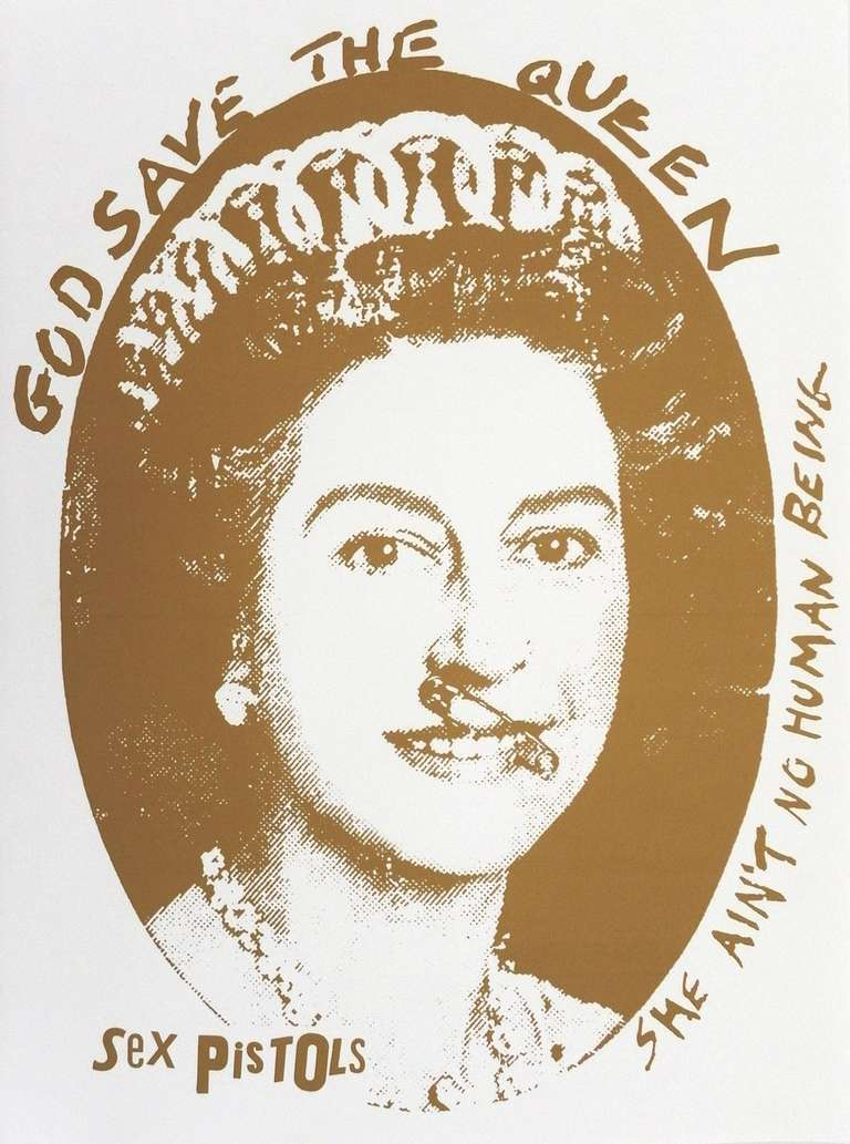 Jamie Reid Quot God Save The Queen Quot Print 1997 For Sale At