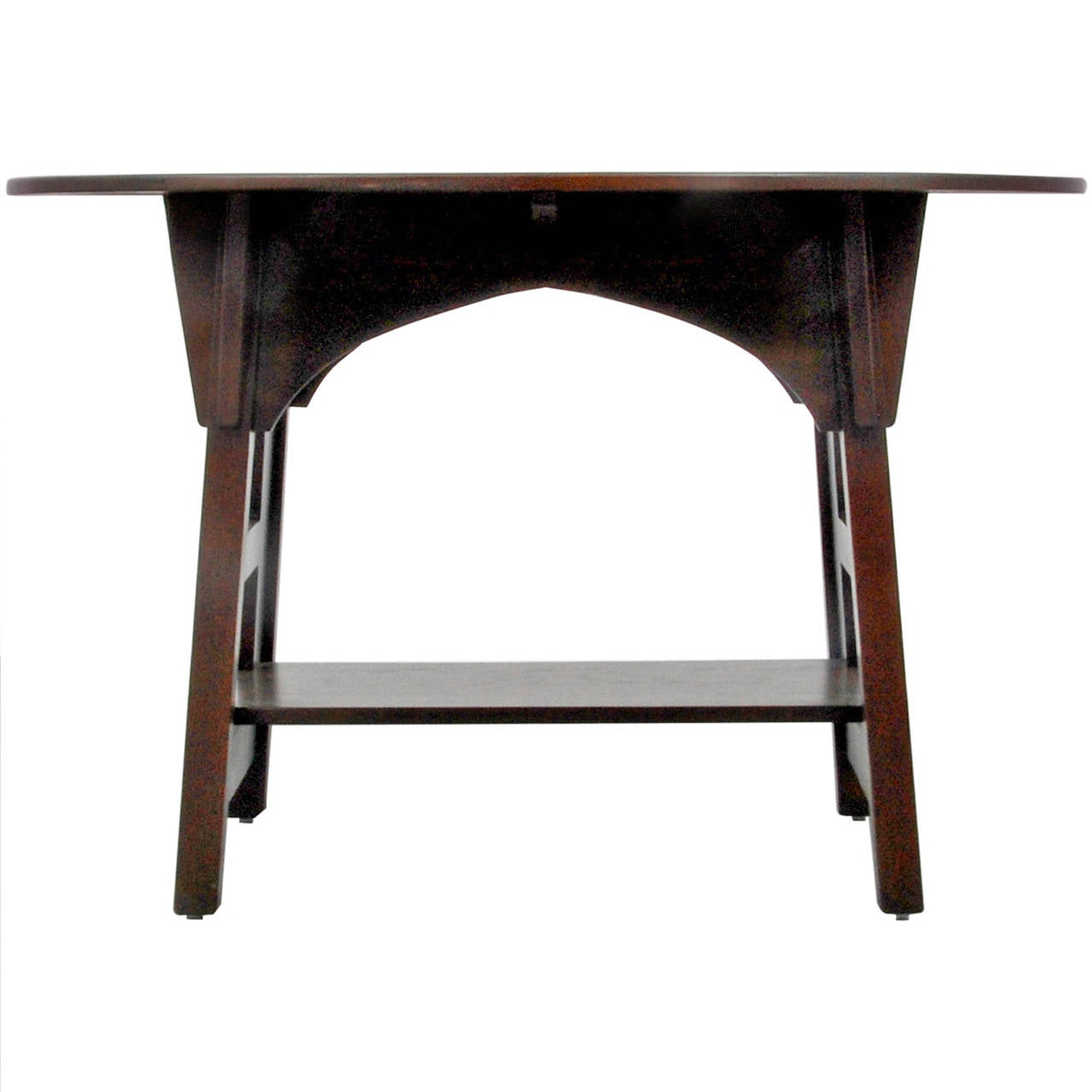 Rare limbert one drawer mission oak console table with backsplash charles limbert mission library table geotapseo Image collections