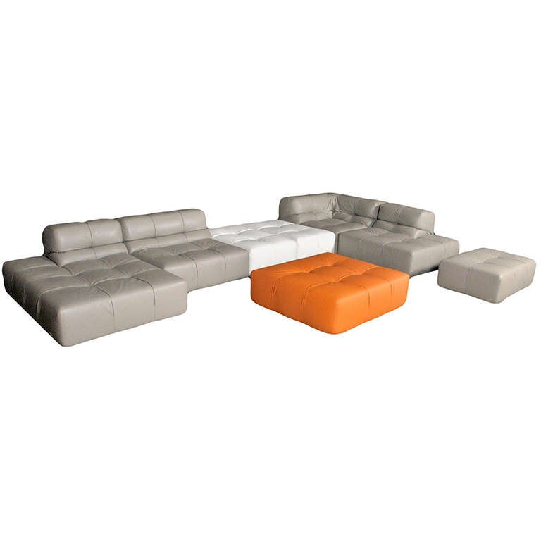 Patricia Urquiola Tufty Time Leather Sectional Sofa At 1stdibs