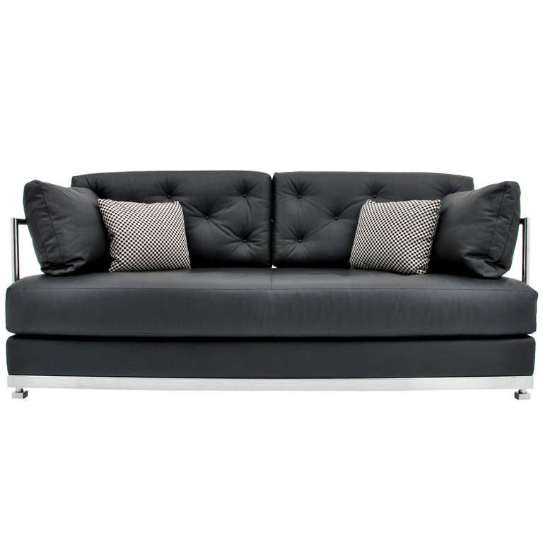 Leather Sofa By Vicente Wolf For Ralph Pucci At 1stdibs