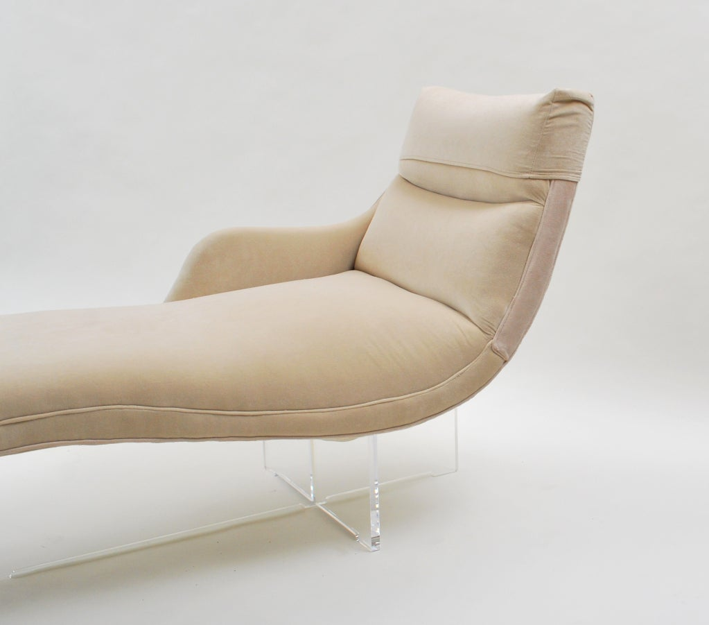 erica chaise longue by vladimir kagan at 1stdibs. Black Bedroom Furniture Sets. Home Design Ideas