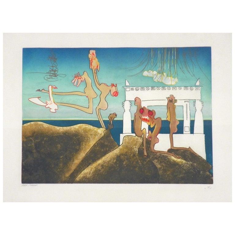 Roberto Matta Surrealist Lithograph