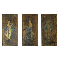 Large Philip and Kelvin LaVerne Wall Plaques, Set of Three, circa 1960