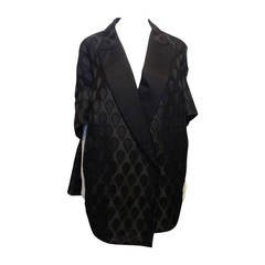 Yves Saint Laurent Black Satin Coat