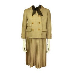 Norman Norell 1960s Three Piece Skirt Suit