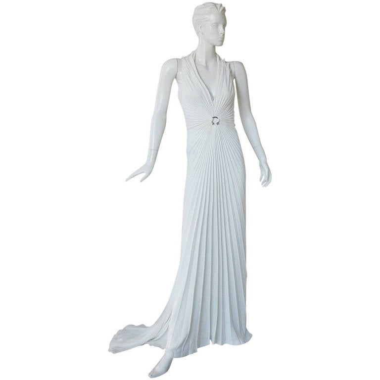 Thierry Mugler Iconic Old Hollywood 1930's Inspired Dress Gown For Sale