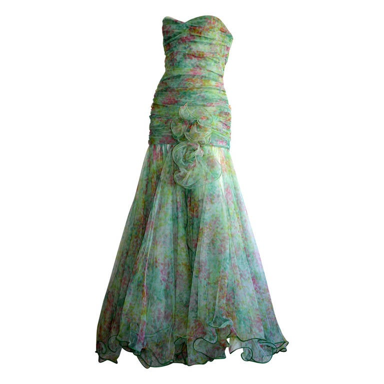 Jean Jacques Bertrand Midsummer's Night Dream Gown From Italian Aristocat For Sale