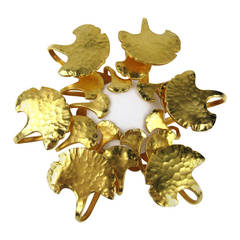 Dominique Aurientis Gold Gilt New, Never worn 1980s Brooch