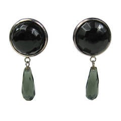 Dominique Aurientis Sterling Silver Faceted Glass Earrings