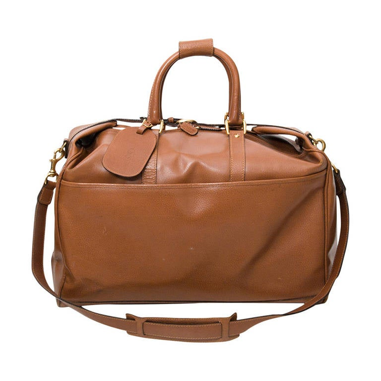 Gucci Cognac Duffel Traveling Bag 1