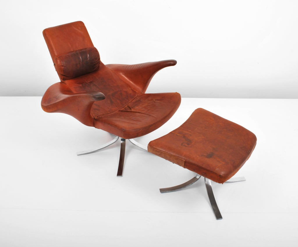 Quot Seagull Quot Lounge Chair By Berg And Eriksson At 1stdibs