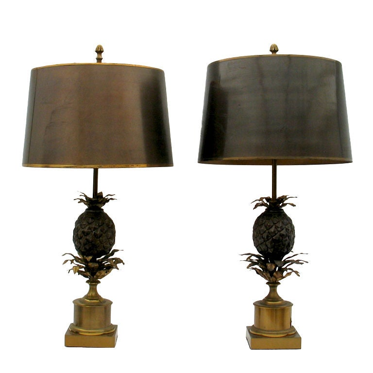 A pair of Maison Charles pineapple lamps at 1stdibs