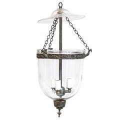 Pair, English Bell Jar Lanterns