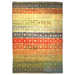 Goat Hair Kilims with Vintage Wool Knotting 9711 9'8 x 14'5