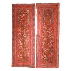 Pair of Vintage Persian Kirman Shawl Panels