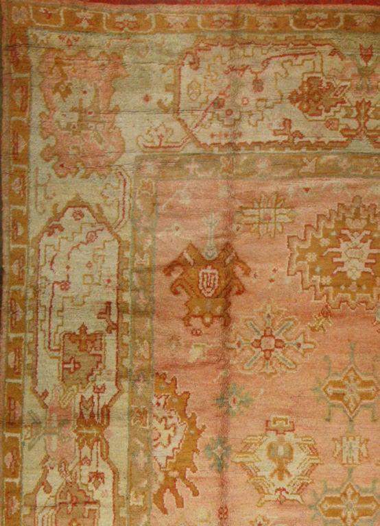 Antique Turkish Oushak Rug 2