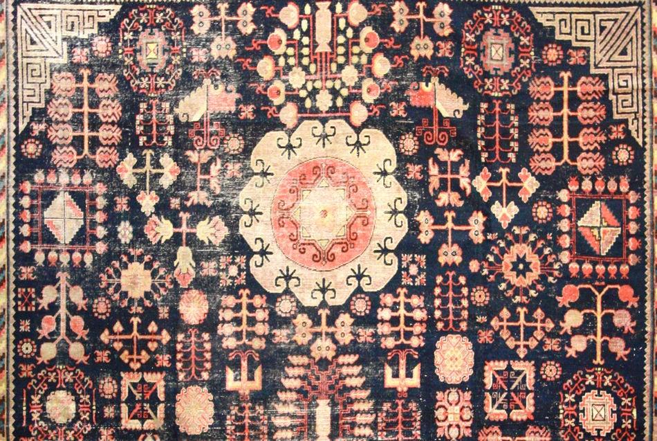 Turkestan Antique Khotan Rug For Sale